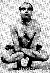 BKS Iyengar in Kukkutasana